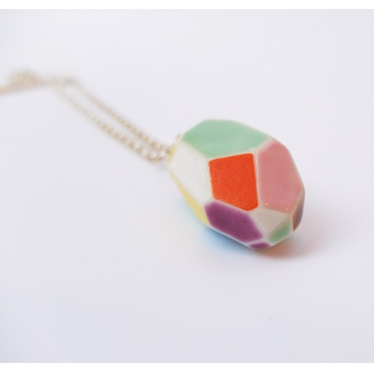 Large Faceted Necklace
