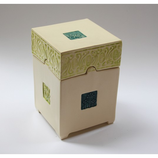 Large Box decorated with Plaster Stamp