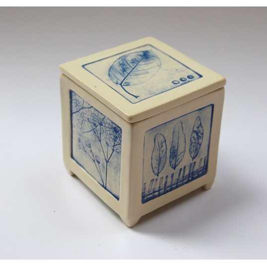 Mini Box with Collagraph Imprint