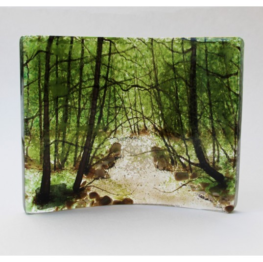 Curved Glass Panel - Summer Stream