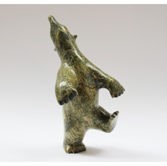 Dancing Bear 1259699 - Inuit Serpentine Stone Carving