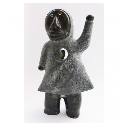 Inuit Serpentine Stone Carving - Shaman
