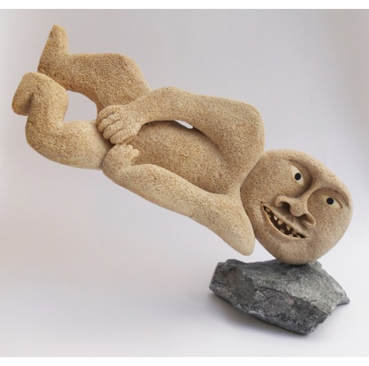 Inuit Whale Bone Carving - I Fall Down
