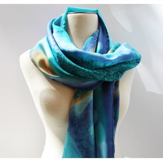 Freebrush Silk Scarf