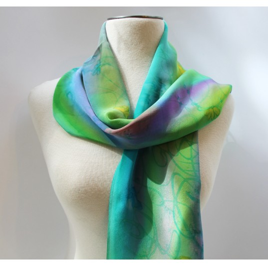 Handpainted Silk Scarf
