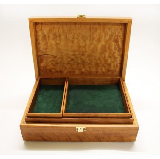 Figured Fruitwoods Jewellery Box