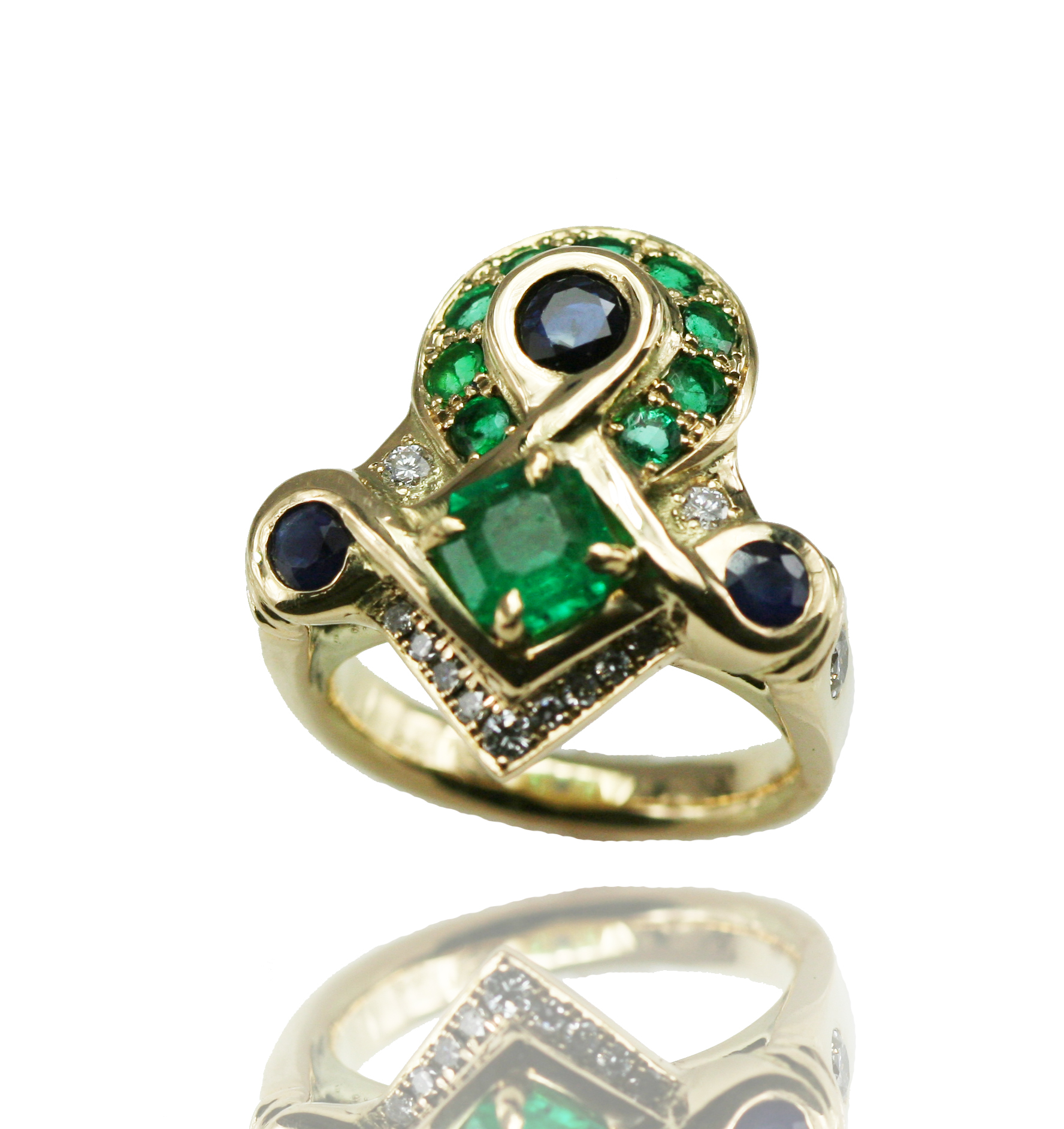 emerald ank ring